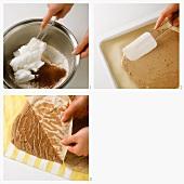 Making chocolate mascarpone slices