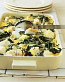 Haddock and spinach casserole