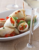 Stuffed squid with vegetables