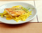 Nile perch in curried fennel sauce