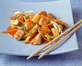 Sweet and sour chicken breast fillet