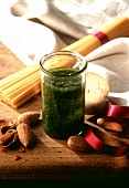 Parsley and almond pesto, as a gift