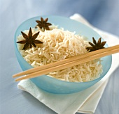 Boiled rice with star anise