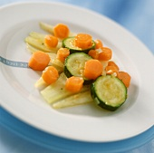 Stewed Carrots and Leeks in a Pan