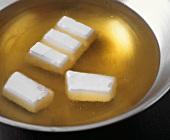 Heating fat in fondue pot