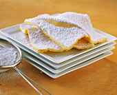 Wave cake (thin tray-baked cake with icing sugar)
