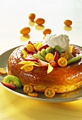 Orange savarin with fruit and cream