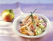 Fruity salad with turkey breast