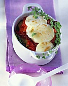 Courgette bake with tomatoes and mozzarella