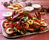 Seafood and fish platter