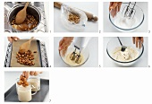 Making almond cream with almond caramel