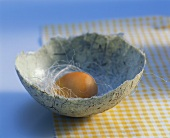 Eggshell made from hand-made paper