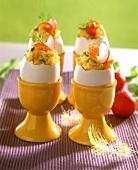 Scrambled egg in egg shell