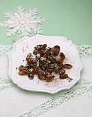 Chocolate almonds with cocoa coating