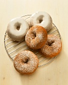Doughnuts with and without icing