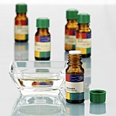 Several bottles of scented oil