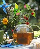 Summer tea (made from herbs, flowers and orange peel)