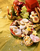 Assorted biscuits and chocolates for Christmas