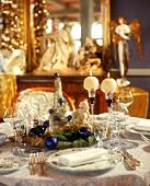 Festive Christmas table