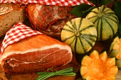 Cavaillon melons and Jambon de Bayonne (French ham)
