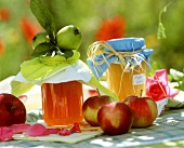Apple jelly and apple puree