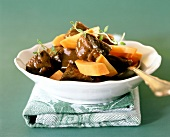 Beef in beer with carrots