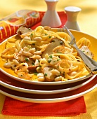 Tagliatelle alla grossetana (Pasta with mushrooms & squid)