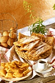 Oreillettes (pastries from Provence) & Bugnets (from Lyon)