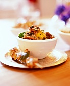Exotic vegetable & date rice with mango and chicken kebab