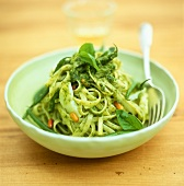 Linguine alla genovese (Ribbon pasta with pesto, Italy)
