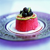 Blackberry and lime mousse