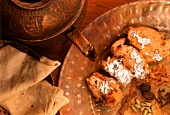Chicken & Roomali roti (chicken breast and flatbread, India)