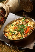 Shahi biryani (basmati rice with vegetables and nuts, India)