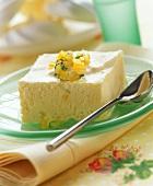 Lemon ice cream parfait with lemon and tarragon confit