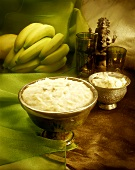 Haichi kheer (sweet rice pudding with almonds, India)