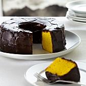 Bolo de cenoura (carrot cake, Brazil)