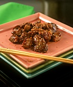Spicy poultry liver in sesame  soy sauce