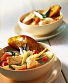Caldereta de pescado (Majorcan fish stew)