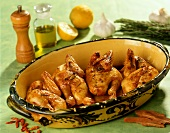 Poussin roasted with lemon and rosemary