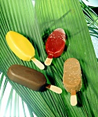 Ice creams with chocolate & fruit coatings (Magnum & Solero)