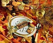 Bûche de Noël (Christmas dessert, France)