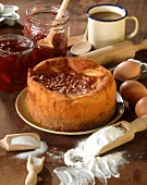Gateau a la confiture (jam cake, France)
