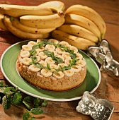 Banana and mint cake