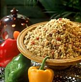 Tabbouleh (bulgur salad with peppers, Lebanon)