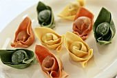 Fagottini tricolore (filled pasta parcels, Italy)