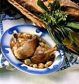 Canard aux navets (duck with turnips, France)