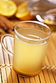 Hot ginger tea with honey (for colds and nausea)