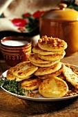 Blinys (potato pancakes, Poland)