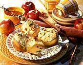 Honeyed apple gratin