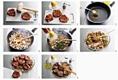 Preparing 'bistecchine alla napoletana'